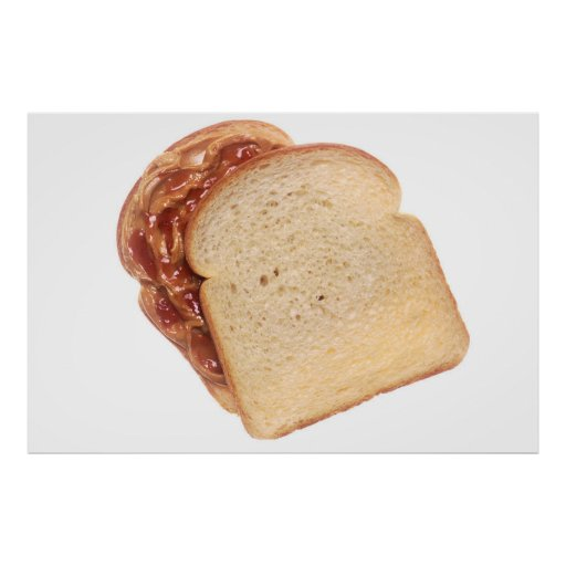 Peanut Butter and Jelly Sandwich Poster