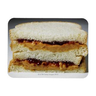 Peanut butter and jelly sandwich. rectangular photo magnet