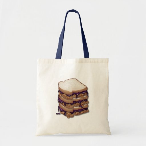 Peanut Butter and Jelly Sandwiches Canvas Bags