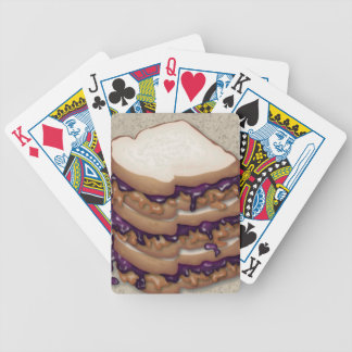 Peanut Butter and Jelly Sandwiches Bicycle Poker Deck
