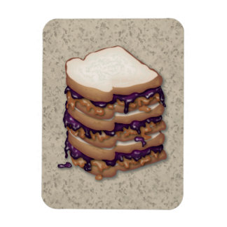 Peanut Butter and Jelly Sandwiches Rectangular Photo Magnet