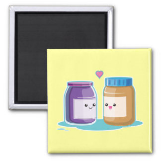 Peanut Butter and Jelly Square Magnet