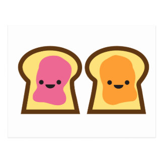Peanut Butter and Jelly Toast Friends Postcard
