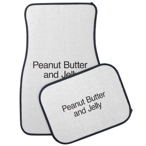 Peanut Butter and Jelly Floor Mat