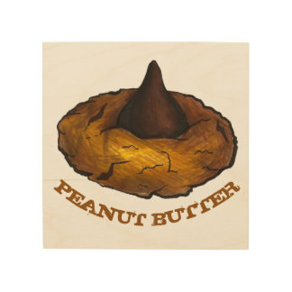 Peanut Butter Blossom Chocolate Cookie Baking Food Wood Wall Art