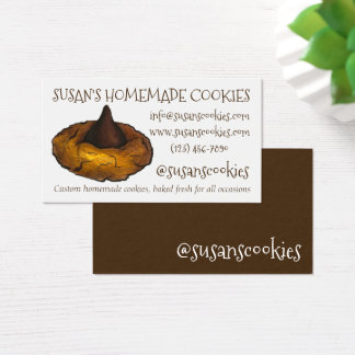 Peanut Butter Blossom Cookie Baking Baked By Baker Business Card