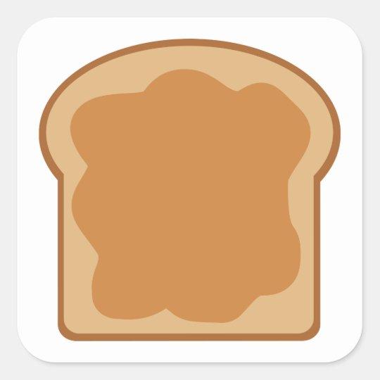 Peanut Butter Bread Slice Square Sticker