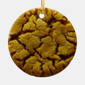 Peanut Butter Cookie Ceramic Ornament