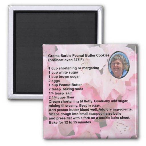 Peanut Butter Cookies Recipe Magnet