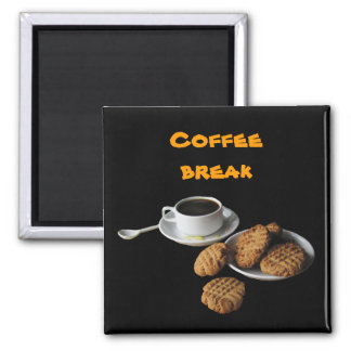 Peanut Butter Cookies Square Magnet