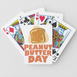 Peanut Butter Day - Appreciation Day Bicycle Playing Cards