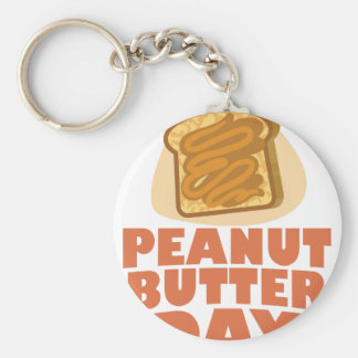 Peanut Butter Day - Appreciation Day Key Ring