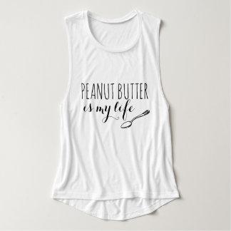 Peanut Butter Flowy Muscle Tank Top