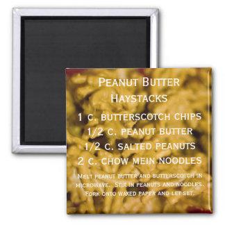 Peanut Butter Haystacks Square Magnet