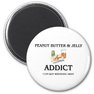Peanut Butter & Jelly Addict 6 Cm Round Magnet