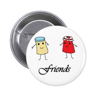 Peanut butter & Jelly Friends Buttons