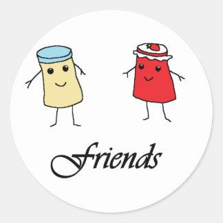 Peanut butter & Jelly Friends Round Sticker
