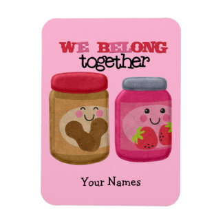 Peanut Butter & Jelly Rectangular Photo Magnet