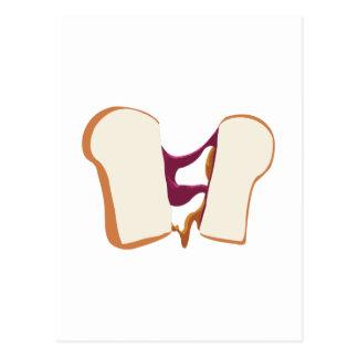 Peanut Butter Jelly Sandwich Postcard