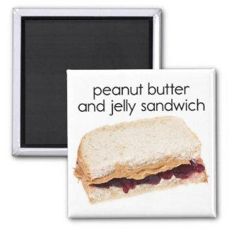 Peanut Butter & Jelly Sandwich Refrigerator Magnet