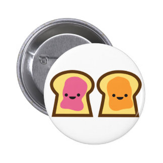 Peanut Butter Jelly Time! 6 Cm Round Badge