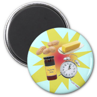 Peanut Butter Jelly Time! 6 Cm Round Magnet