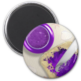 Peanut Butter Jelly Time 6 Cm Round Magnet