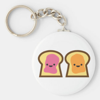 Peanut Butter Jelly Time! Basic Round Button Key Ring