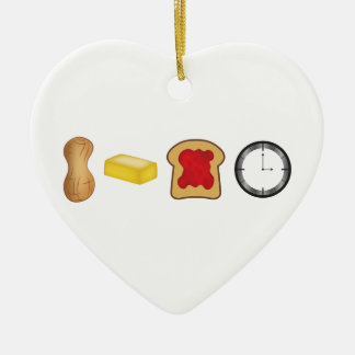 Peanut Butter Jelly Time Horizontal Ceramic Heart Decoration