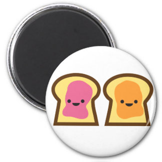 Peanut Butter Jelly Time! Fridge Magnets