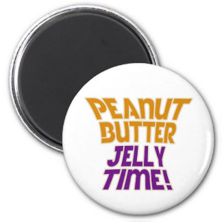 Peanut butter jelly time fridge magnets