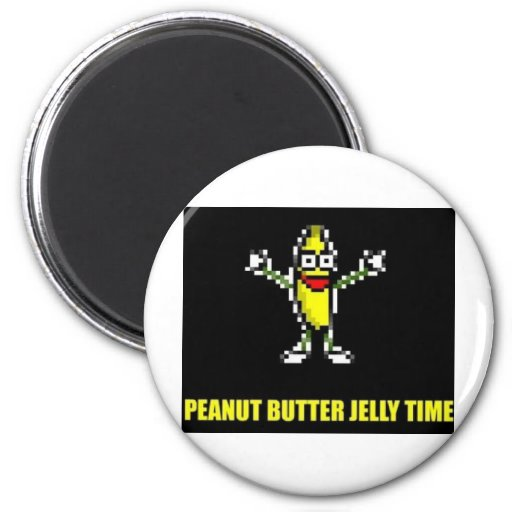 Peanut Butter Jelly Time Refrigerator Magnet