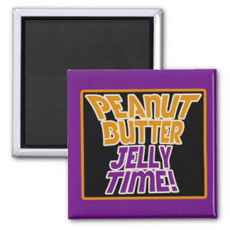 Peanut butter jelly time refrigerator magnets