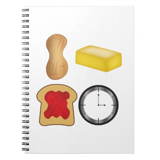 Peanut Butter Jelly Time! Spiral Note Books