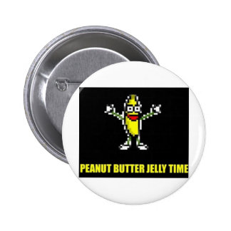 Peanut Butter Jelly Time Pinback Buttons