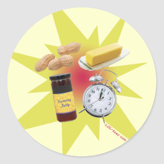 Peanut Butter Jelly Time Round Stickers