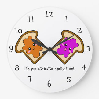 Peanut-butter-jelly Time Wall Clock