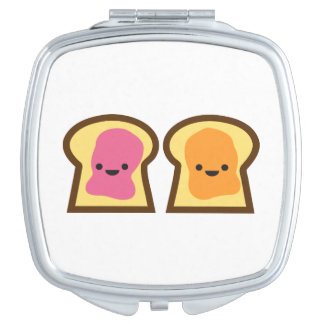 Peanut Butter & Jelly Toast Friends Compact Mirror