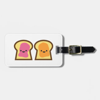 Peanut Butter & Jelly Toast Friends Luggage Tag