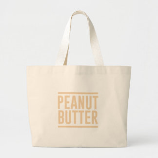 Peanut Butter Large Tote Bag