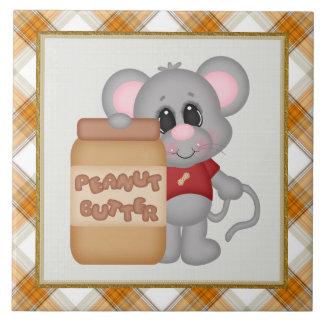 Peanut Butter Mouse kitchen tile