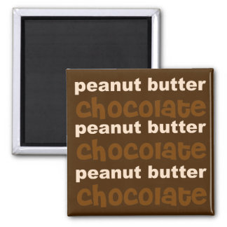 Peanut Butter  n Chocolate Fridge Magnet