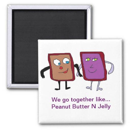 peanut butter n jelly Lover magnet