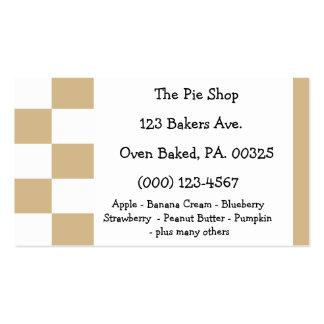 Peanut Butter Pie Colors Business Card Templates