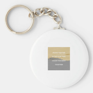 Peanut Butter Rules Key Ring