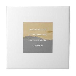 Peanut Butter Rules Tile