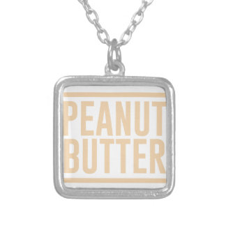 Peanut Butter Silver Plated Necklace