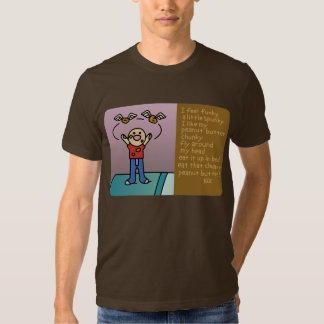 peanut butter. t-shirt