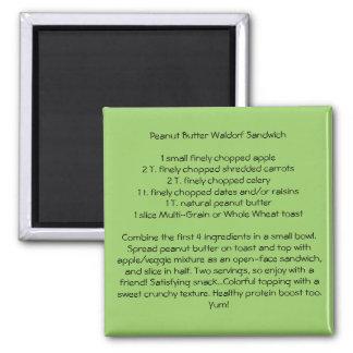 Peanut Butter Waldorf Sandwich Square Magnet