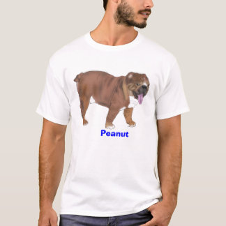 Peanut, English bulldog tee